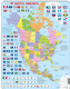 Political Map of North America  - Frame/Board Jigsaw Puzzle 29cm x 37cm (LRS  K17-GB)